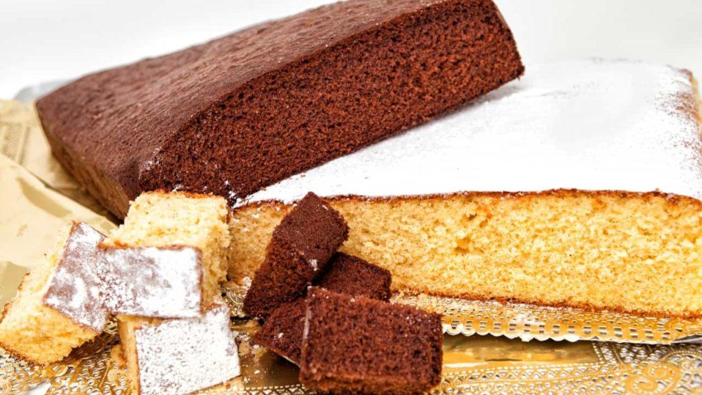 bizcochos y bizcochos de chocolate