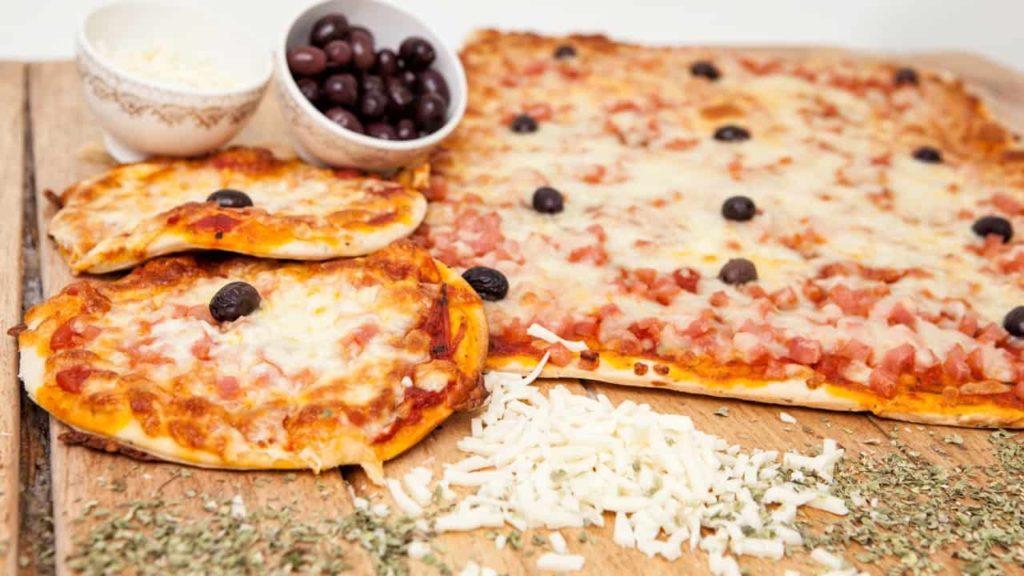 llanda pizza de jamón y queso